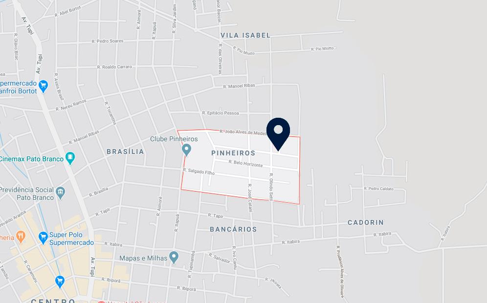 Google Maps - Loteamento Avelino Marcante - FAMEX Empreendimentos