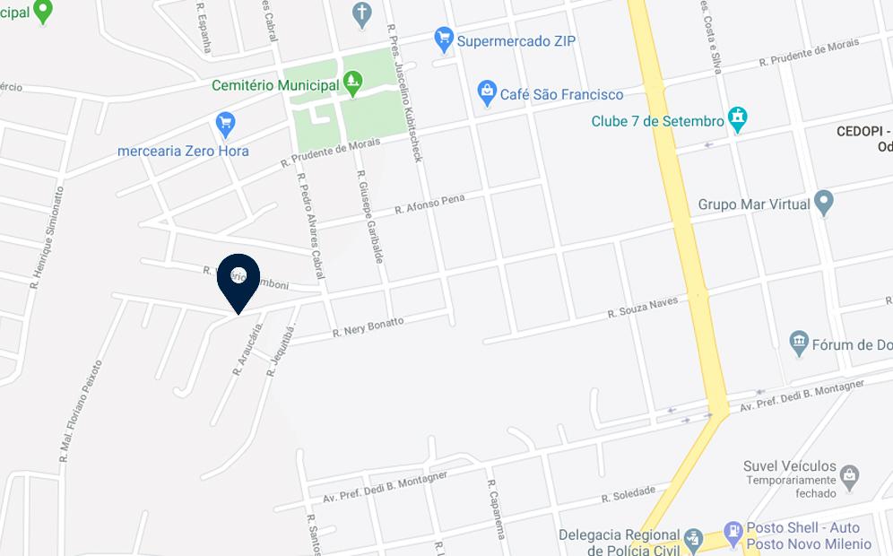 Google Maps - Loteamento Caeté - FAMEX Empreendimentos