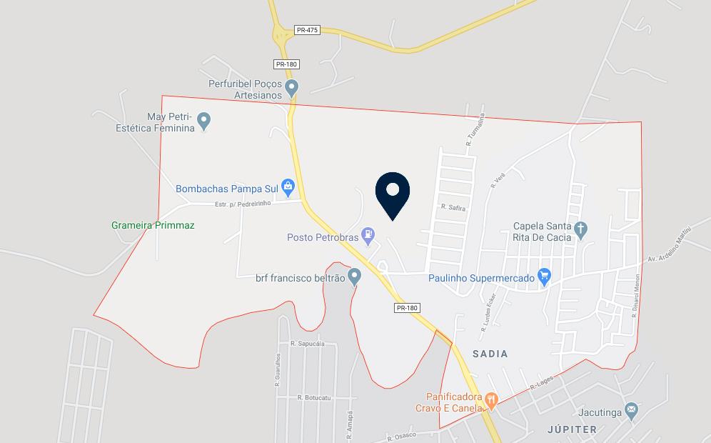 Google Maps - Loteamento De Sordi - FAMEX Empreendimentos