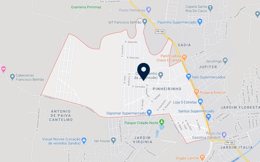 Google Maps - Loteamento Guerra - FAMEX Empreendimentos
