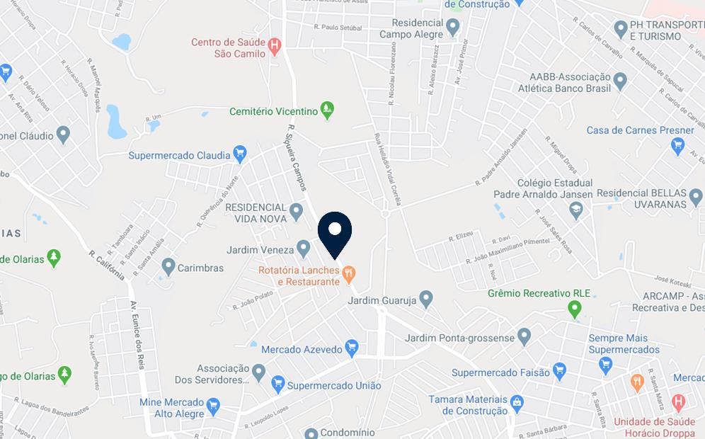 Google Maps - Loteamento Campo Belo - FAMEX Empreendimentos